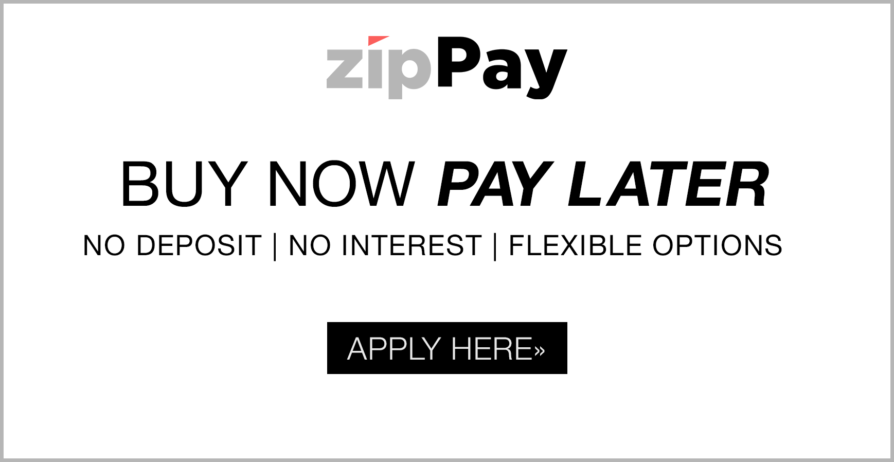 Zippay buy now pay later banner 2 optics4u for Buy here pay later